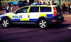 Polisbil. Foto: Aktuellt Fokus